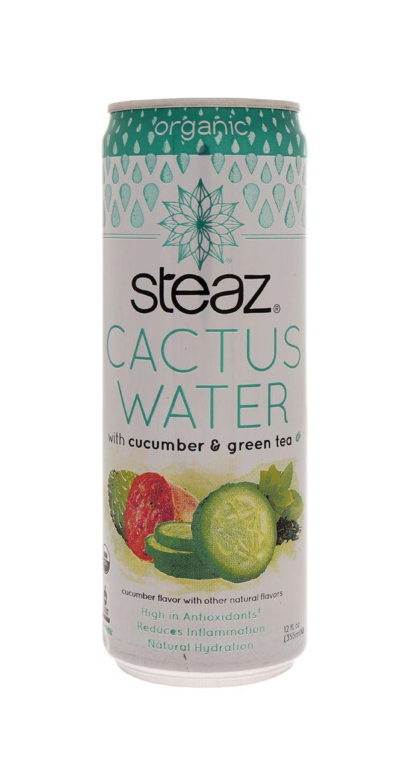 Steaz Cactus Water: Steaz CucuGreen Front