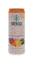 Steaz Cactus Water: Steaz StarGreen Front