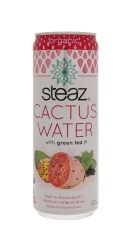 Steaz Cactus Water: Steaz Green Front