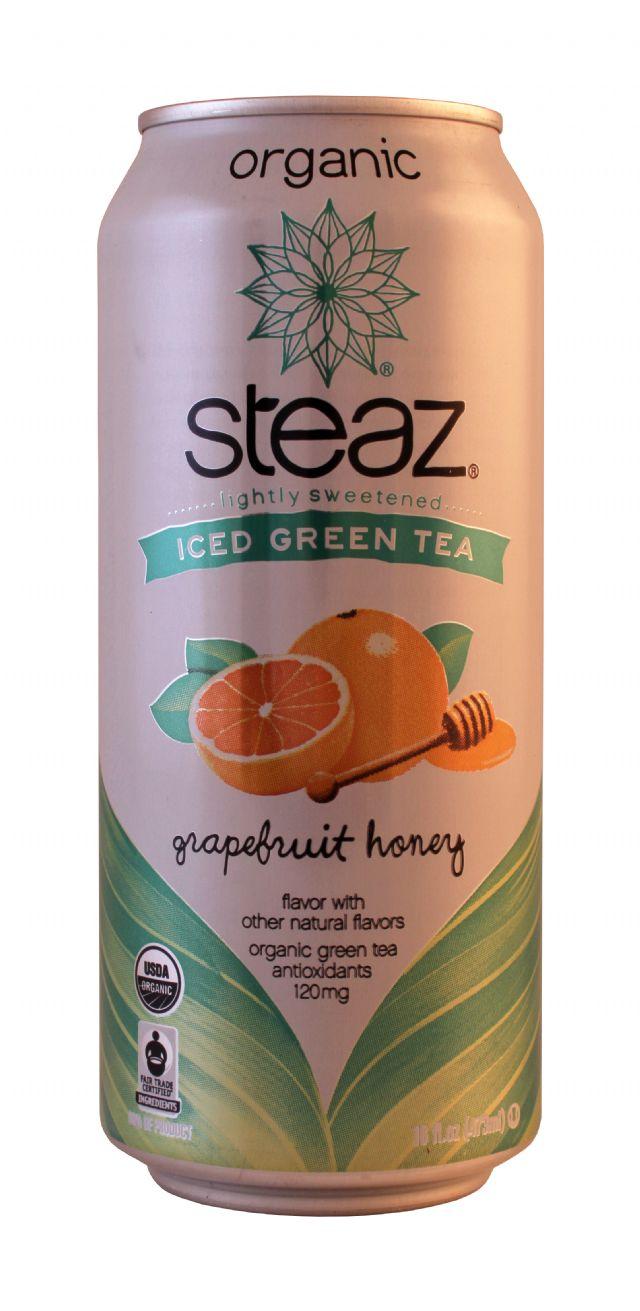 Steaz Organic Iced Teaz: Steaz Grapefruit Front