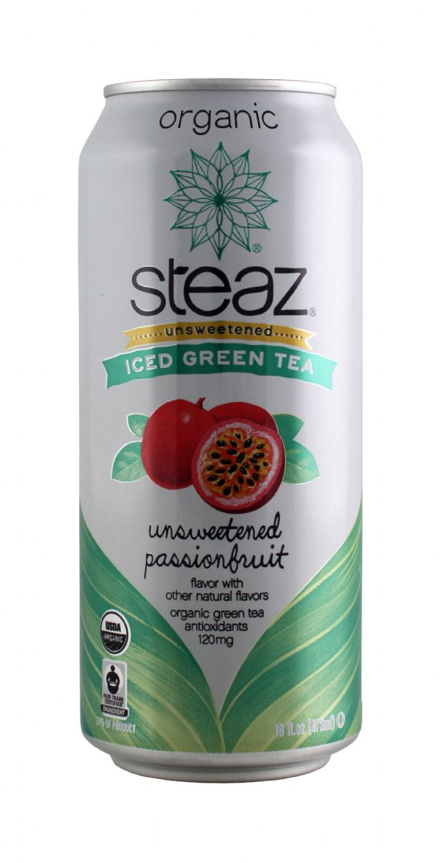 Steaz Organic Iced Teaz: Steaz UnsweetPassion Front