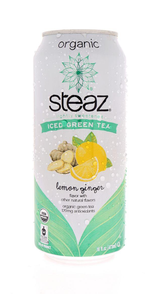 Steaz Organic Iced Teaz: Steaz LemonGing Front