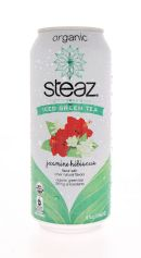 Steaz Organic Iced Teaz: Steaz JasmineHib Front