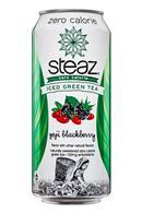 Steaz Organic Iced Teaz: Steaz-IcedGreenTea-16oz-GojiBlackberry-Front