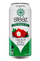 Steaz Organic Iced Teaz: Steaz-IcedGreenTea-16oz-SuperFruit-Front