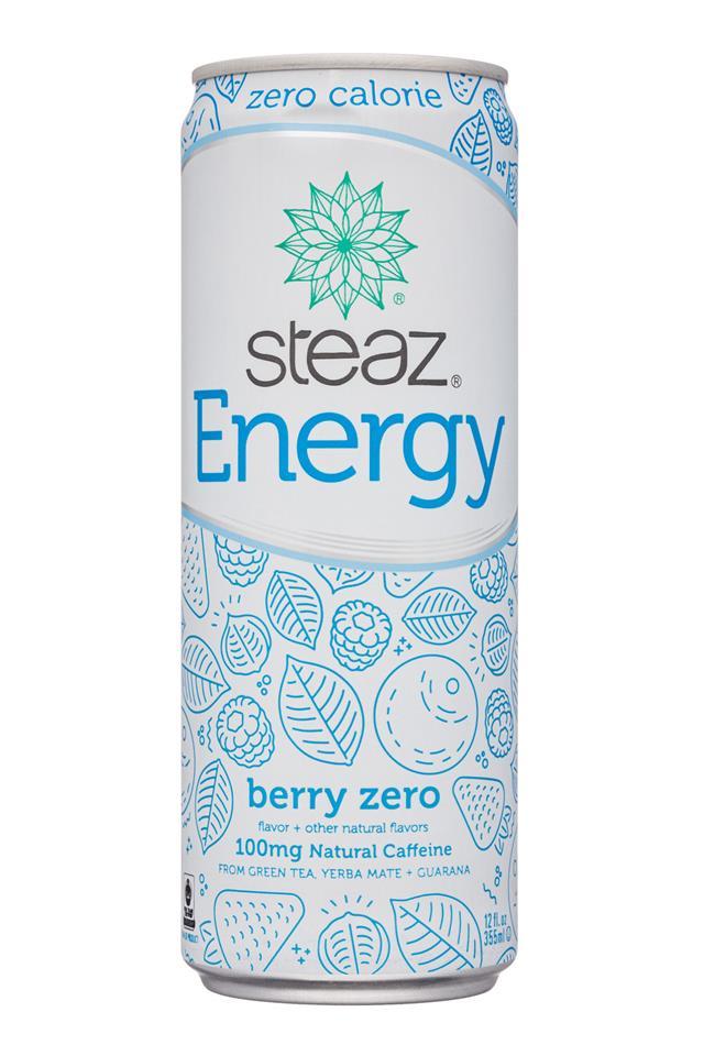 Steaz Energy: Steaz-12oz-Energy-BerryZero-Front