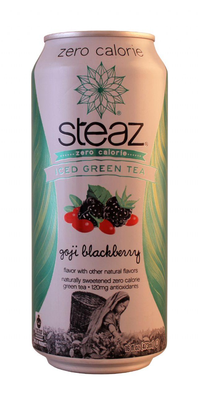 Steaz Zero Calorie Iced Teaz: Steaz Goji Front