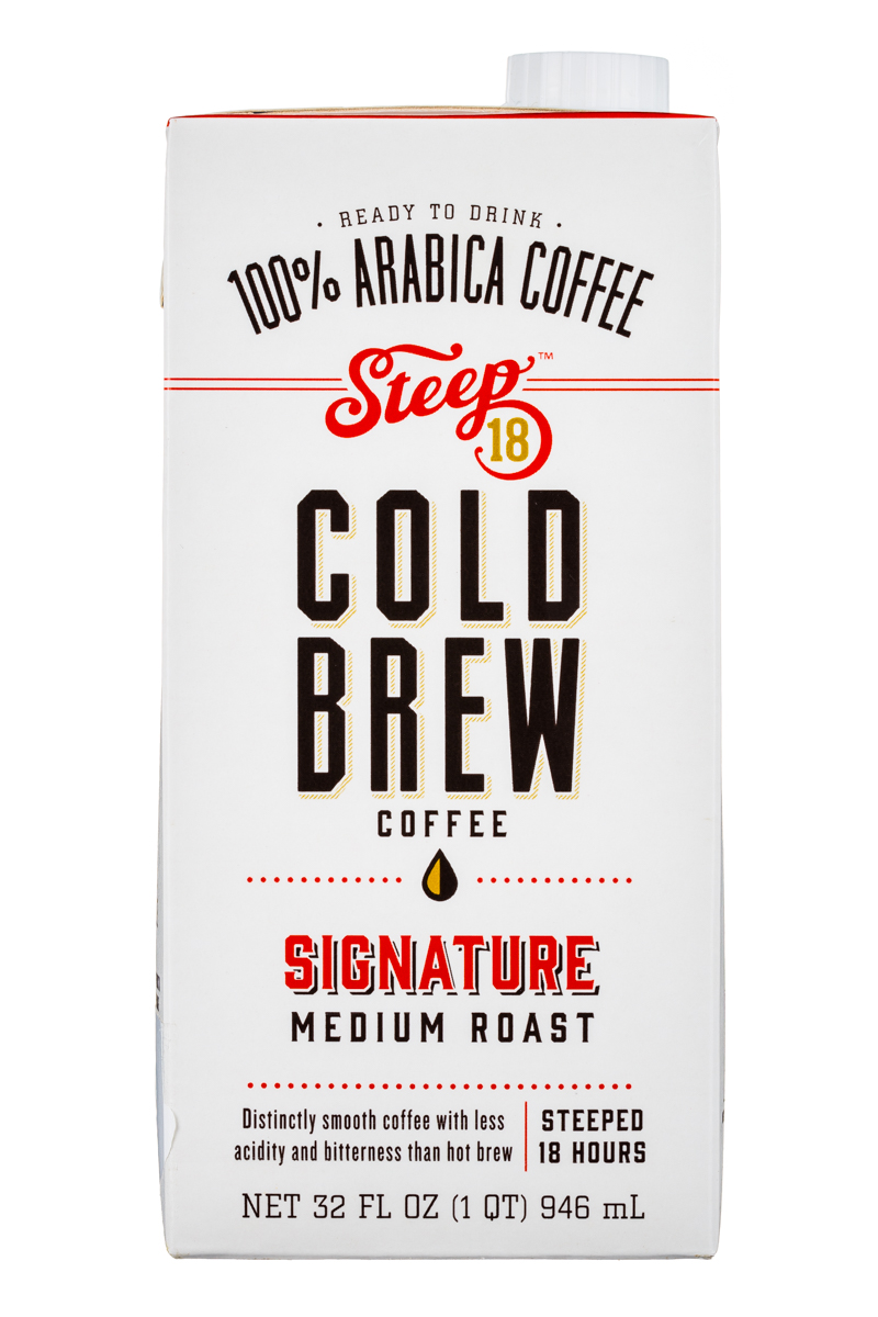Steep 18 Cold Brew: Steep18-ColdBrew-32oz-SignatureMediumRoast-Front