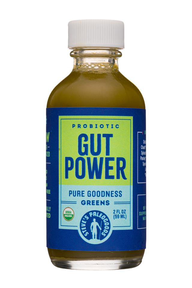 Steve's PaleoGoods - GUT POWER: StevesPaleogoods-2oz-GutPower-Greens-Front