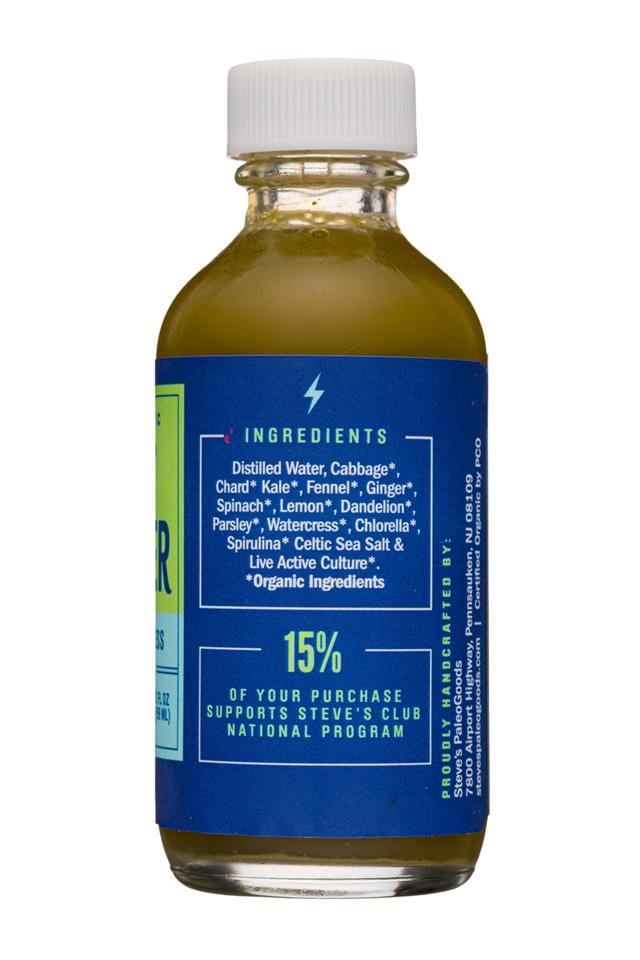 Steve's PaleoGoods - GUT POWER: StevesPaleogoods-2oz-GutPower-Greens-Facts
