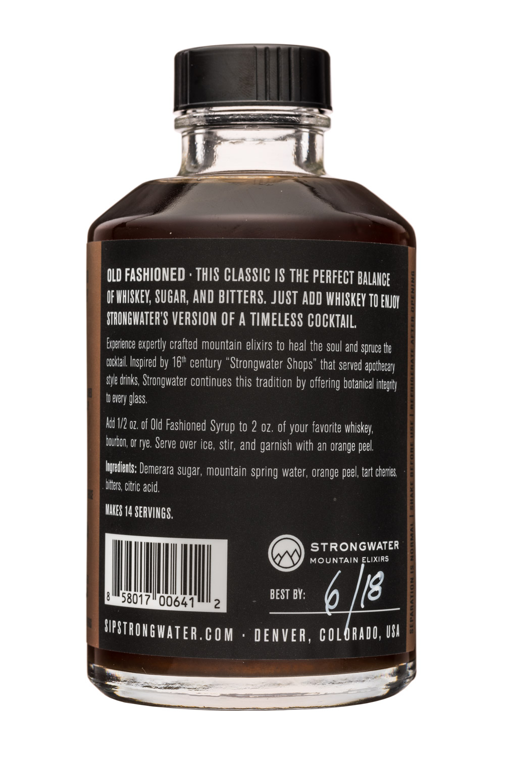 Strongwater Mountain Elixirs: MountainElixers-7oz-OldFashionedSyrup-Facts