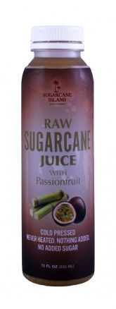 Raw Sugarcane Juice with Passionfruit