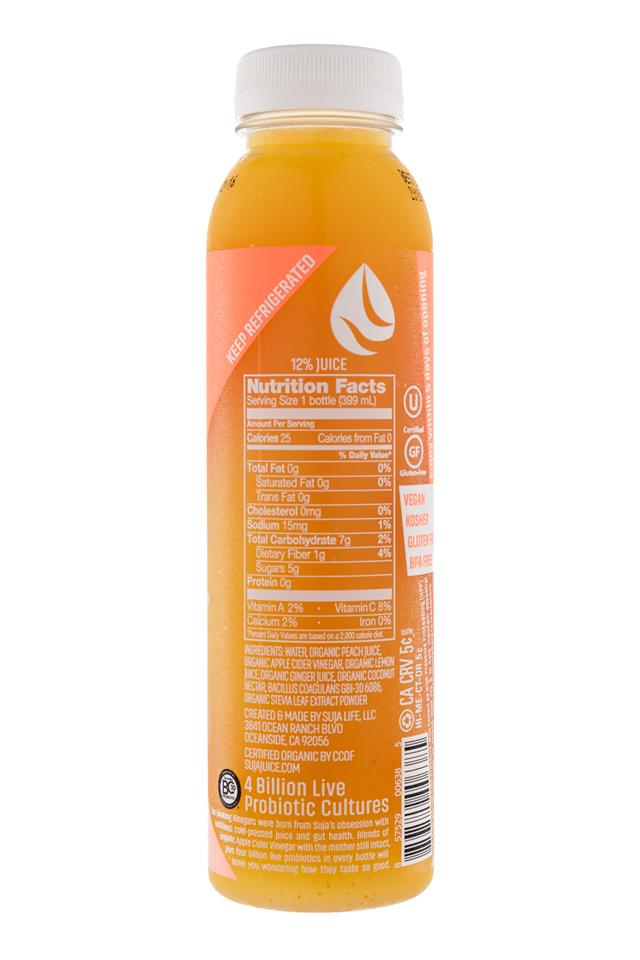 Suja Drinking Vinegar: Suja-DrinkingVinegar-PeachGinger-Facts