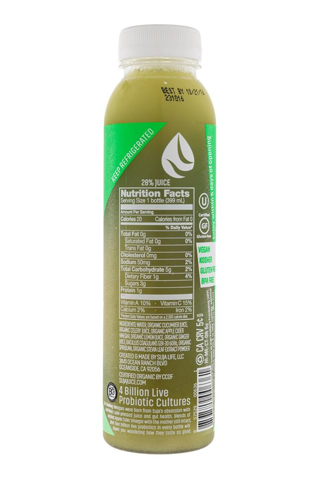 Suja Drinking Vinegar: Suja-DrinkingVinegar-CucumberGinger-Facts