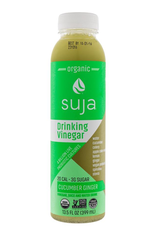 Suja Drinking Vinegar: Suja-DrinkingVinegar-CucumberGinger-Front