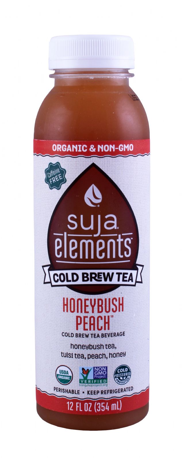 Suja Elements Cold Brew Tea: Suja HoneybushPeach Front