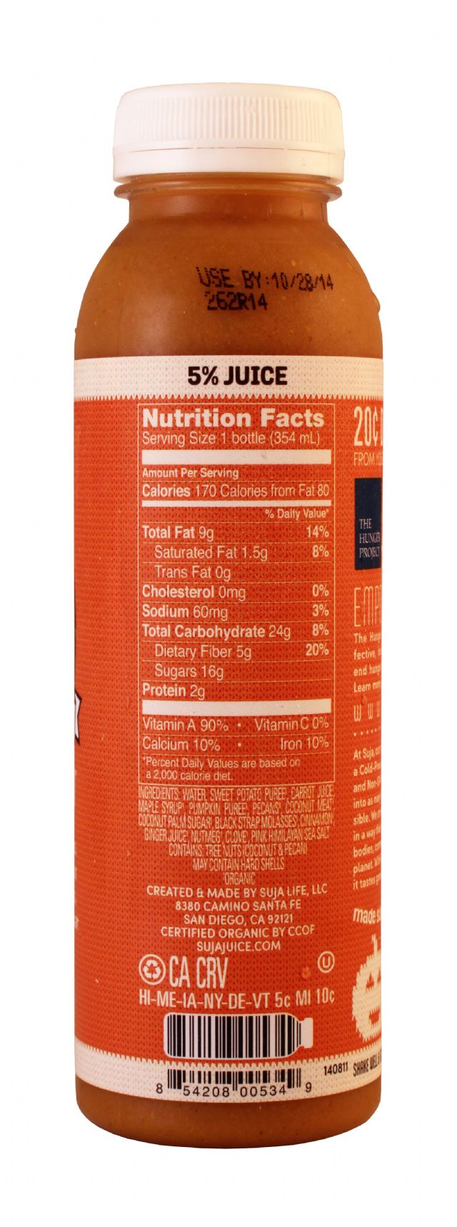 Suja Elements Holiday Edition: Suja CallMePumpkin Facts