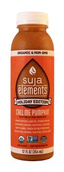 Suja Elements Holiday Edition: Suja CallMePumpkin Front