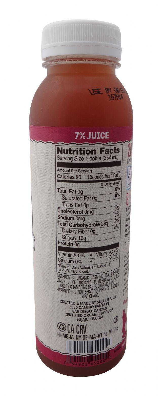 Suja Elements Cold Brew Tea: SujaElementsColdBrewTea-JasminePom-Facts