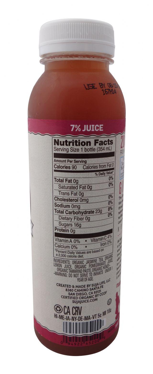 Suja Elements Cold Brew Tea: SujaElementsColdBrewTea-JasminePom-Facts