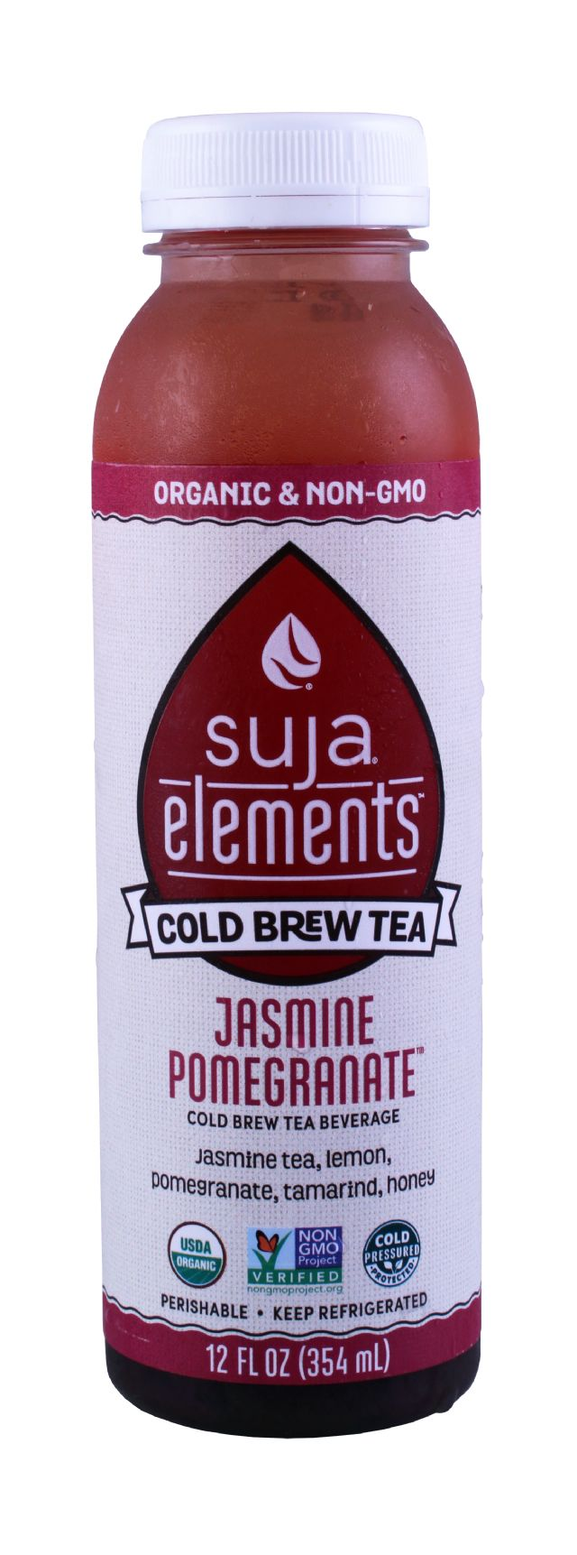 Suja Elements Cold Brew Tea: Suja JasminePom Front