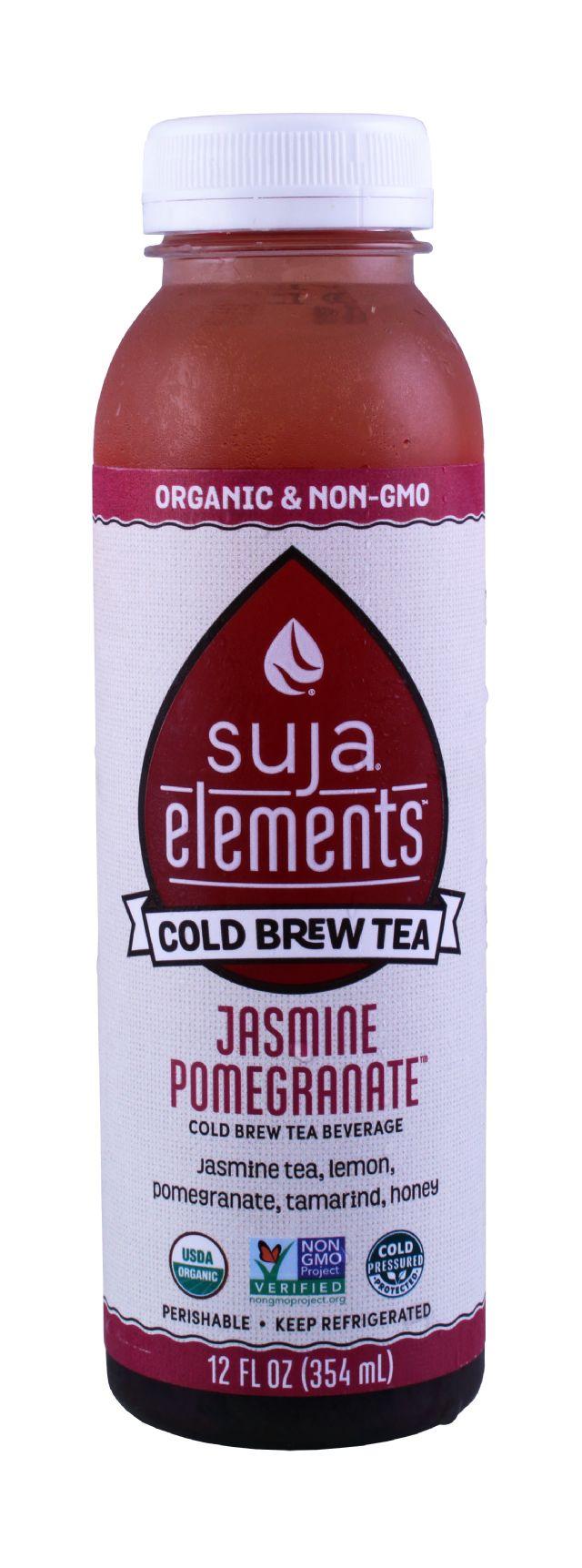 Suja Elements Cold Brew Tea: Suja JasminePom Front