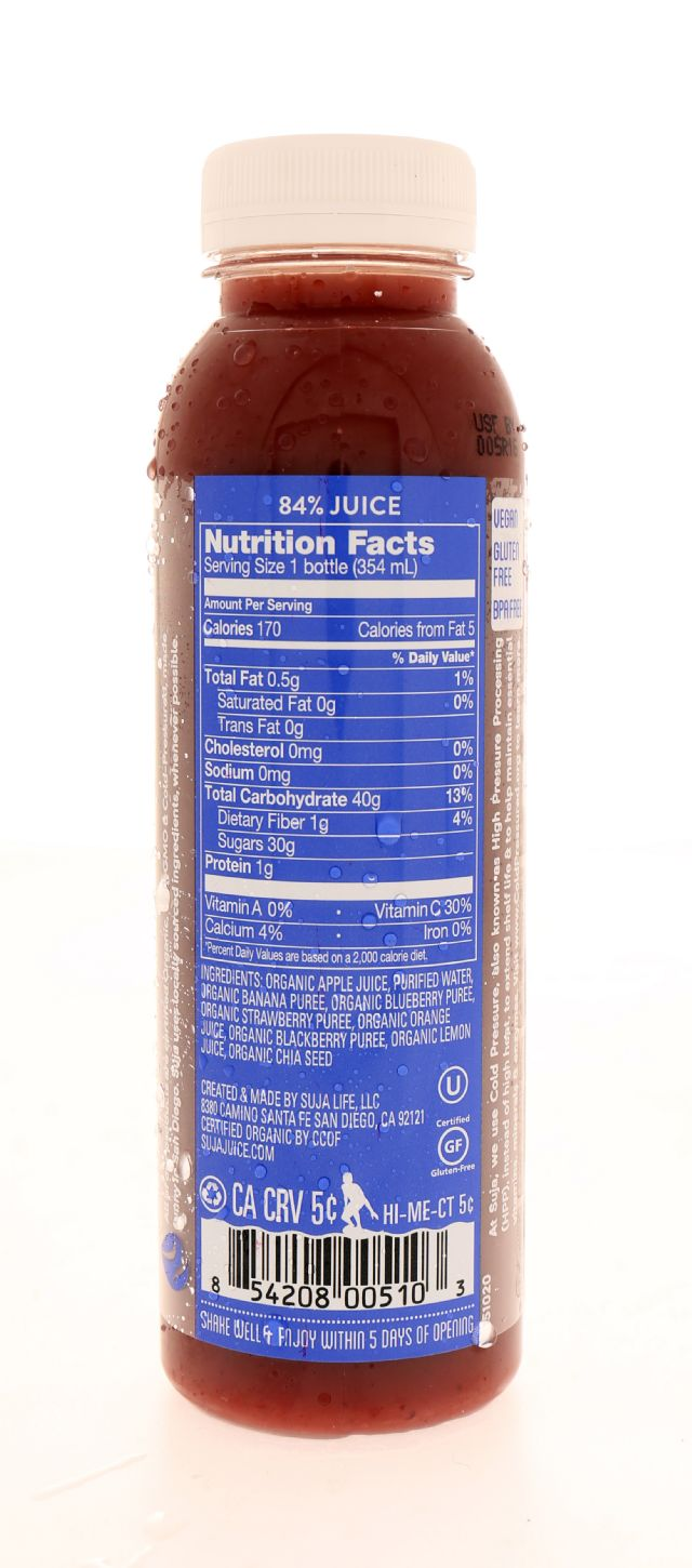 Suja Essentials: Suja BerryGoodness Facts
