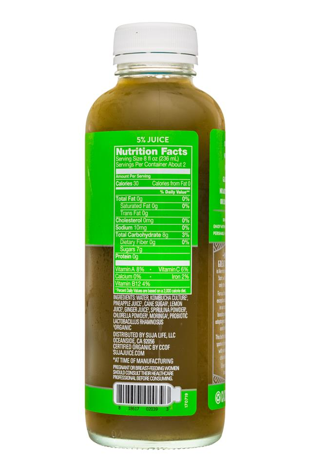Suja Kombucha: Suja-15oz-Kombucha-Green-Facts
