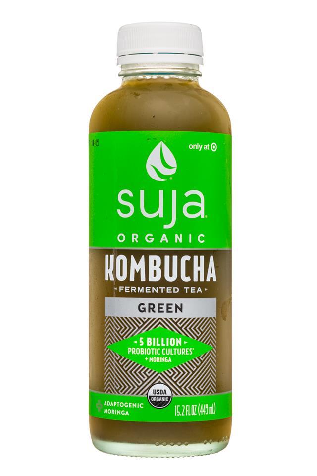 Suja Kombucha: Suja-15oz-Kombucha-Green-Front