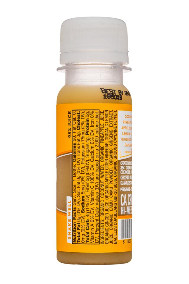Suja Classic Line: Suja-2oz-WellnessShot-Digestion-Facts