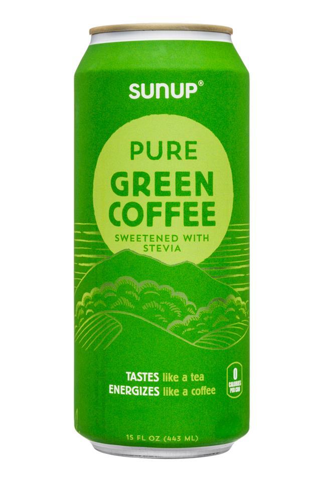 SunUp: Sunup-15oz-PureGreenCoffee-Stevia-Front