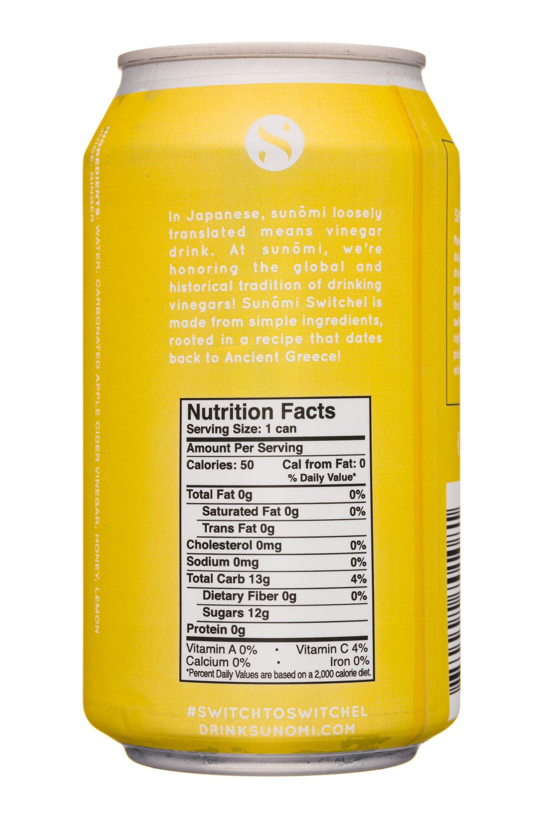 Sunomi: SipCity-12oz-Sunomi-SparklingSwitchel-Lemon-Facts