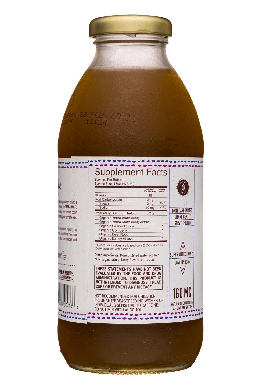 Sunshine Bottle Works: SunshineBottleWorks-16oz-YerbaMate-Berry-facts