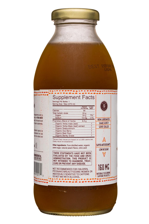 Sunshine Bottle Works: SunshineBottleWorks-16oz-YerbaMate-Peach-Facts
