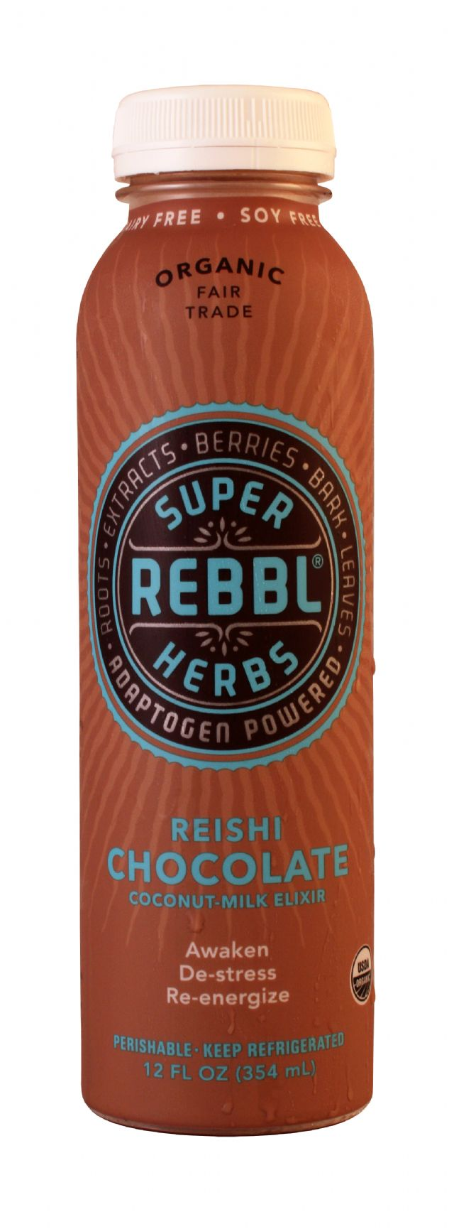 REBBL Super Herbs: Rebbl Chocolate Front