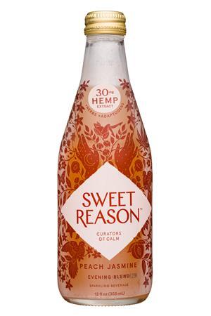 Sweet Reason: SweetReason-12oz-2020-EveningBlend-PeachJasmine-Front