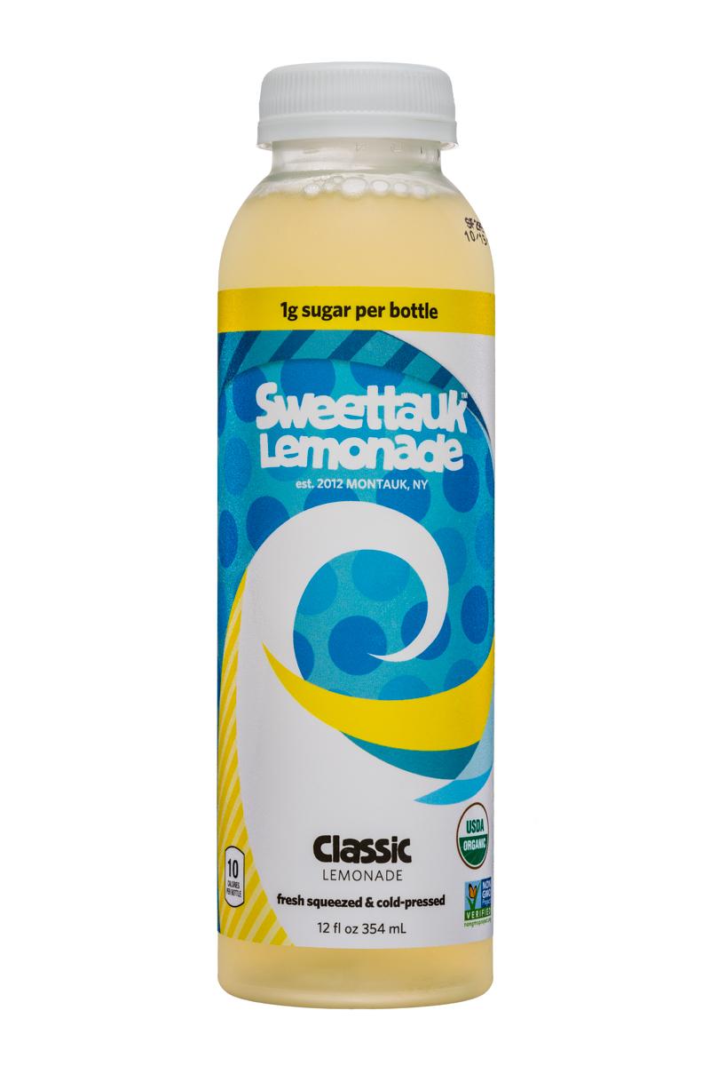Sweet'tauk Lemonade: Sweettauk-12oz-Lemonade-Classic-Front