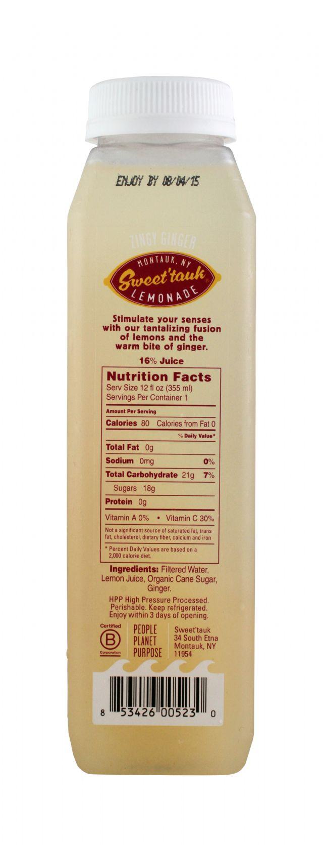 Sweet'tauk Lemonade: SweetTaulk ZingyGinger Facts