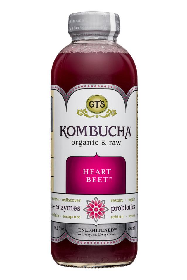 GT's Kombucha: GTs-Kombucha-16oz-HeartBeet-Front