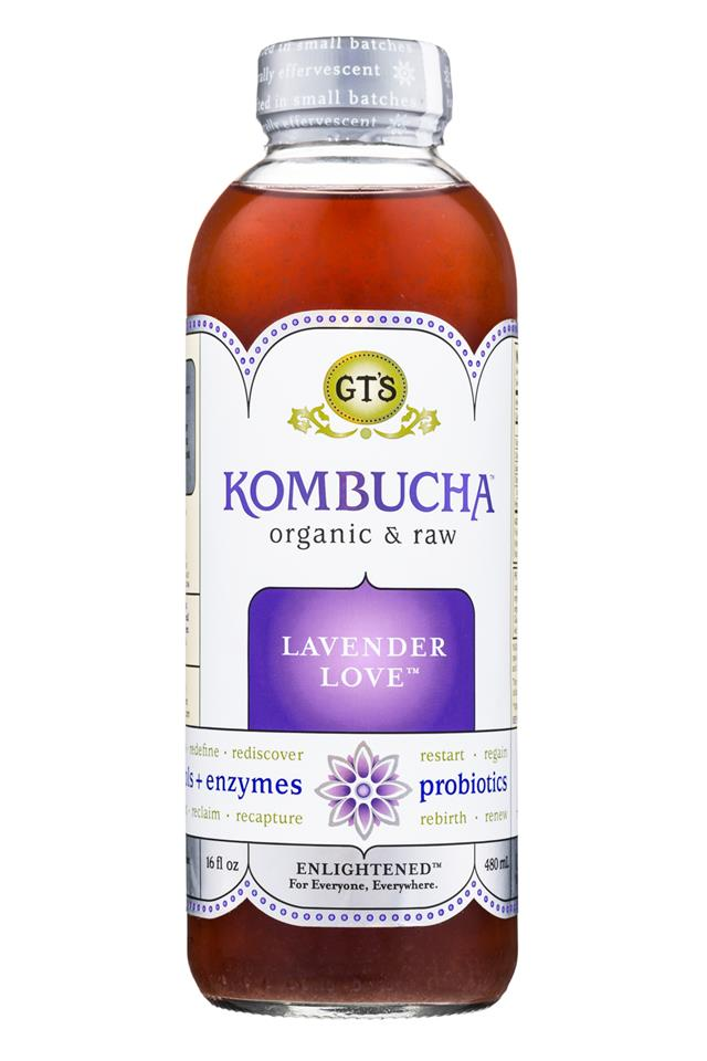 GT's Kombucha: GTs-Synergy-16oz-LavenderLove-Front