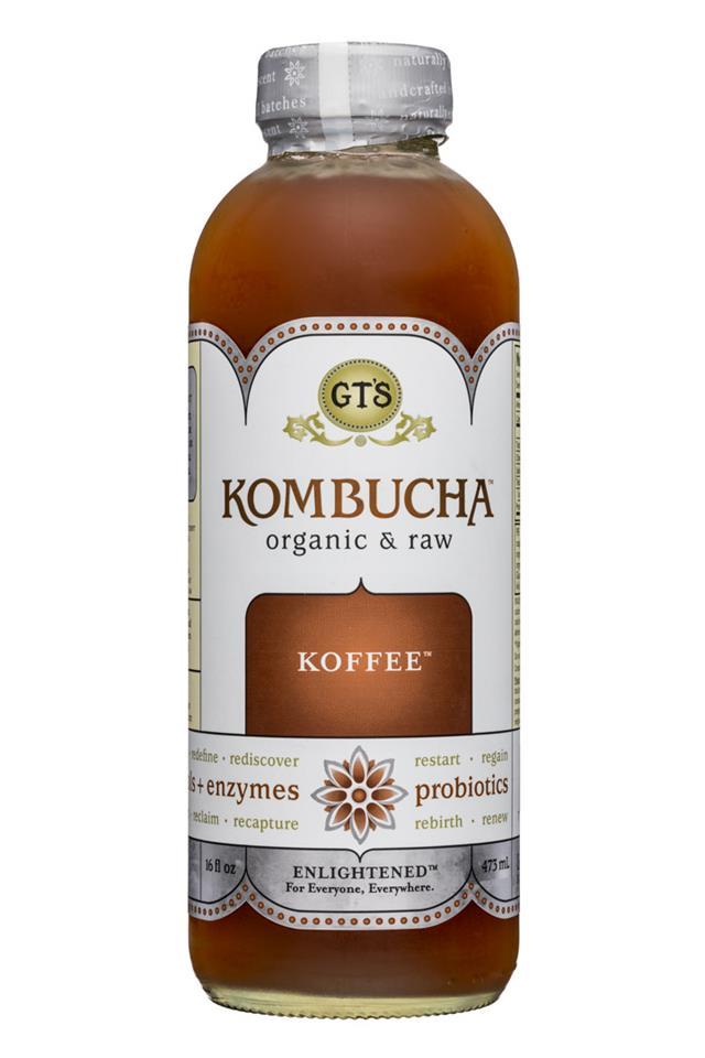 GT's Kombucha: GTs-Kombucha-16oz-Koffee-Front