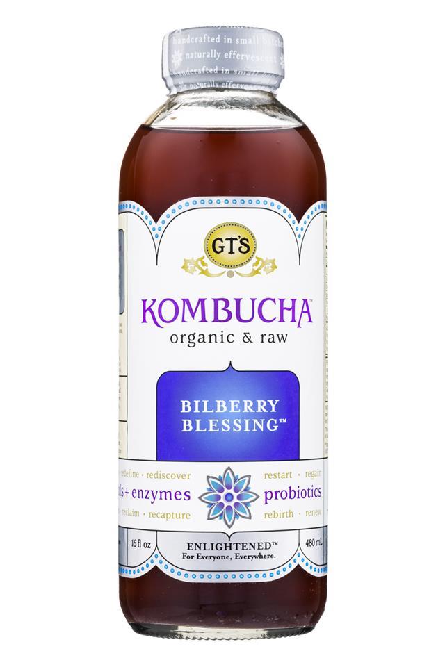 GT's Kombucha: GTs-Synergy-16oz-BilberryBlessing-Front