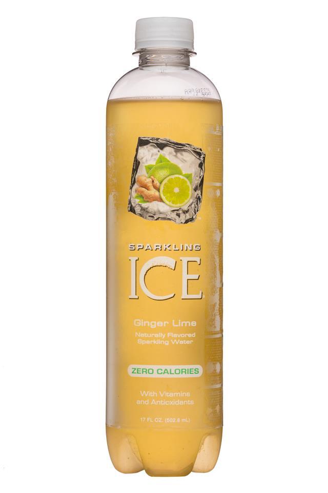 Sparkling Ice -Talking Rain: SparklingIce-17oz-GingerLime-Front