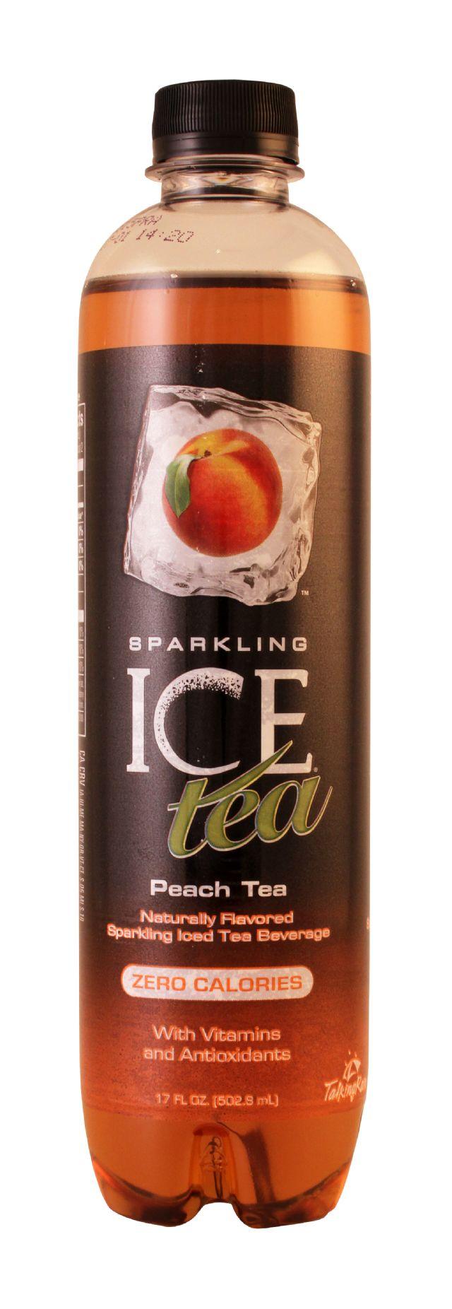 Sparkling Ice -Talking Rain: SparklingICE Tea Peach Front