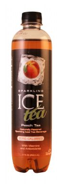 Sparkling Ice -Talking Rain: SparklingICE Tea Peach Front