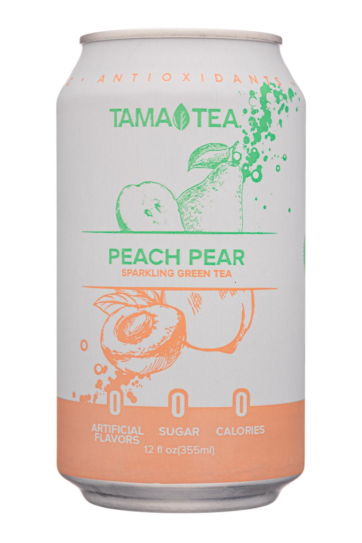 Tama Tea : TamaTea-12oz-SparklingGreenTea-PeachPear-Front