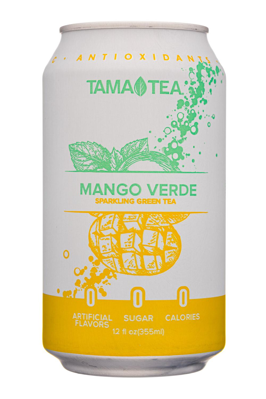 Tama Tea : TamaTea-12oz-SparklingGreenTea-MangoVerde-Front