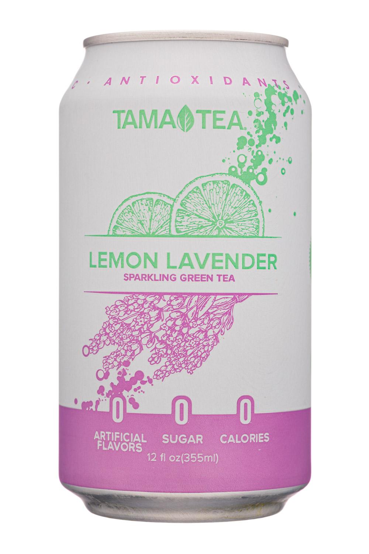 Tama Tea : TamaTea-12oz-SparklingGreenTea-Lemonlavender-Front