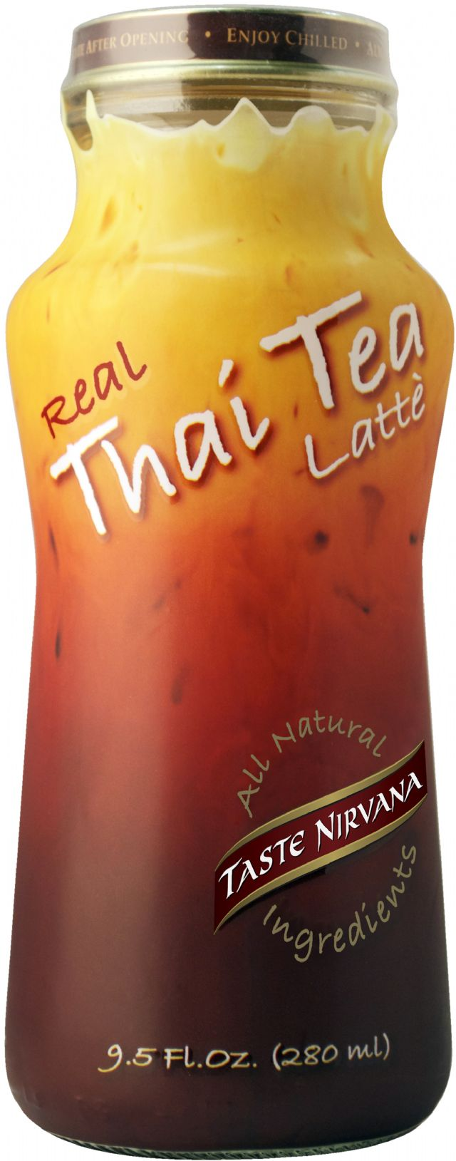 Taste Nirvana: 5  280ml Glass Bottle GÇô TN Thai Tea (All Natural)