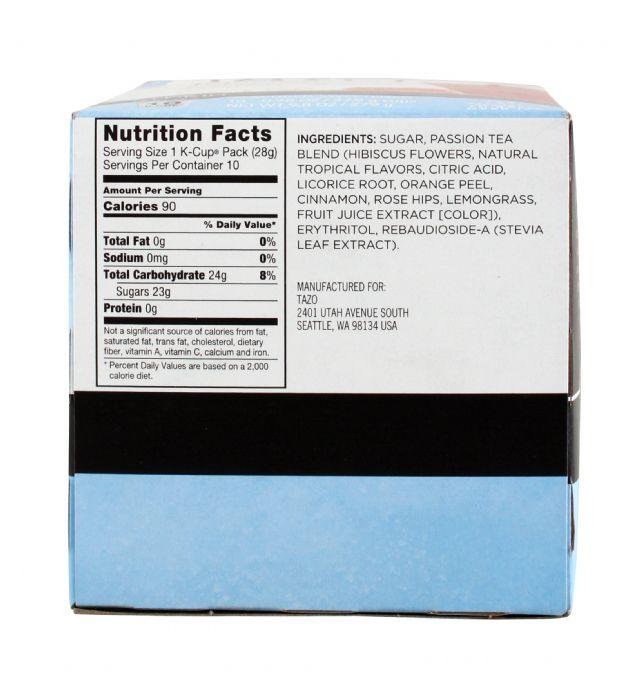 Tazo Tea: Tazo IcePassion Facts